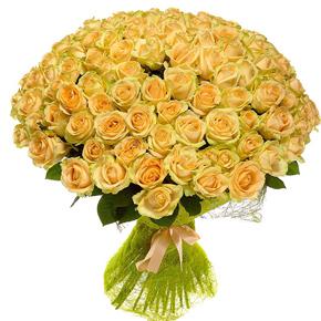 Букет желтых роз Эквадор 151 штука 80 см
