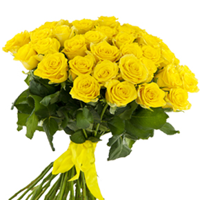 Букет желтых роз Эквадор 25 штук 60 см