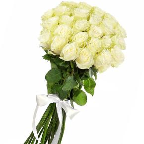 Букет из 25 белых роз 90 см