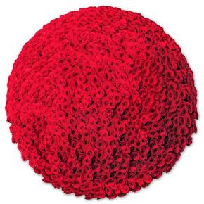 Букет красных роз Эквадор 201 штука 60 см