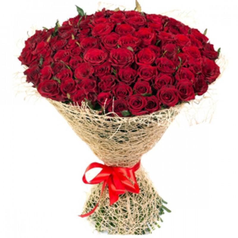 Букет красных роз Эквадор 51 штука 60 см