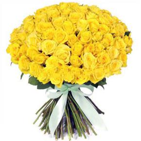 Букет желтых роз Эквадор 51 штука 50 см