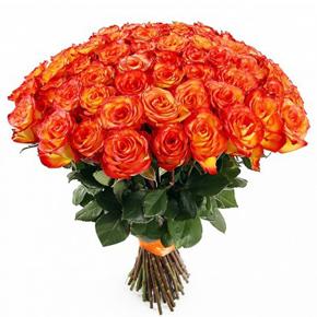 Букет желтых роз Эквадор 51 штука 70 см