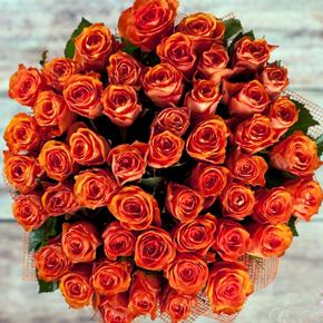 Букет желтых роз Эквадор 51 штука 90 см