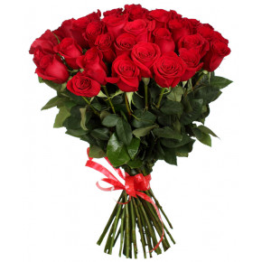 Букет красных роз Эквадор 51 штука 40 см