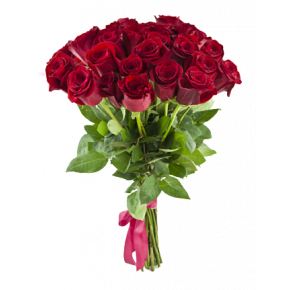 Букет красных роз Эквадор 25 штук 40 см