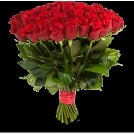 Букет красных роз Эквадор 25 штук 60 см