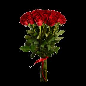 Букет красных роз Эквадор 25 штук 80 см