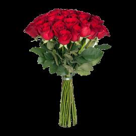 Букет красных роз Эквадор 25 штук 90 см
