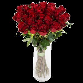 Букет красных роз Эквадор 51 штука 100 см