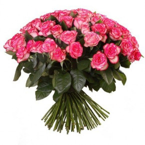 Букет розовых роз Эквадор 25 штук 90 см