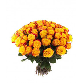 Букет желтых роз Эквадор 25 штук 100 см