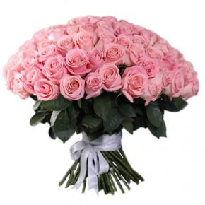 Букет розовых роз Эквадор 51 штука 100 см